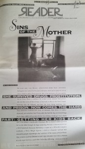"""Chicago Reader cover: Friday, November 8, 1996 Volume 26 No. 6; cover story """"Sins of the Mother"""" by Tori Marlan"""